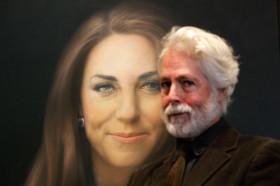 Kate Middleton'ın portresini yapan sanatçı Paul Emsley