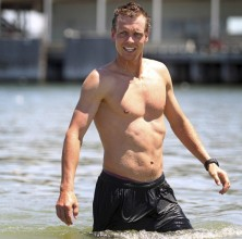Handout photo of tennis player Berdych of the Czech Republic posing on St. Kilda Beach in Melbourne