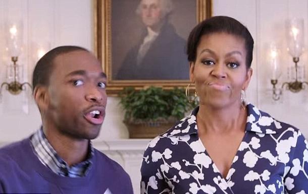 Michelle Obama hem söyledi hem dans etti / Video