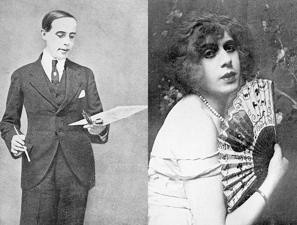 Einar Mogens Wegener (Solda) , Lili Elbe (Sağda)