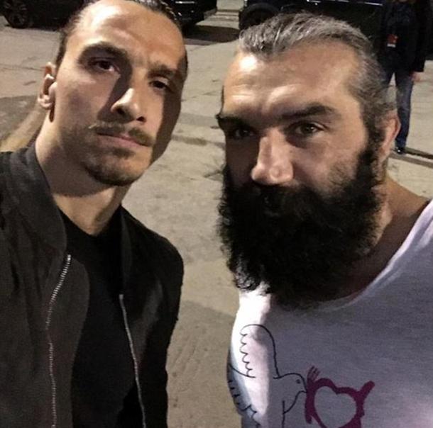 Ibrahimovic ile Sebastien Chabal