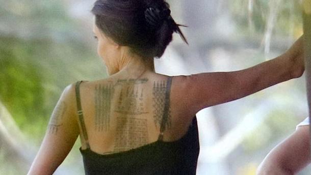 Angelina Jolie yeni dövmeleriyle Kamboçya'da görüntülendi
