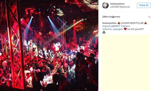 Lindsay Lohan ilk gece kulübünü Yunanistan'da açtı
