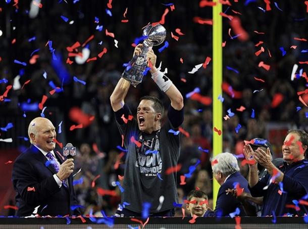 Super Bowl'da kazanan New England Patriots