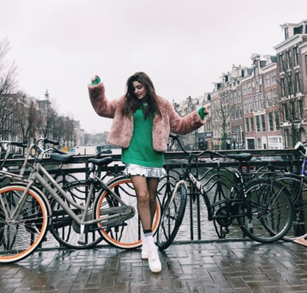 Hande Erçel Amsterdam'da