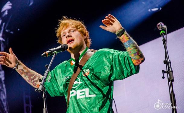 İngiliz şarkıcı Ed Sheeran Dublin