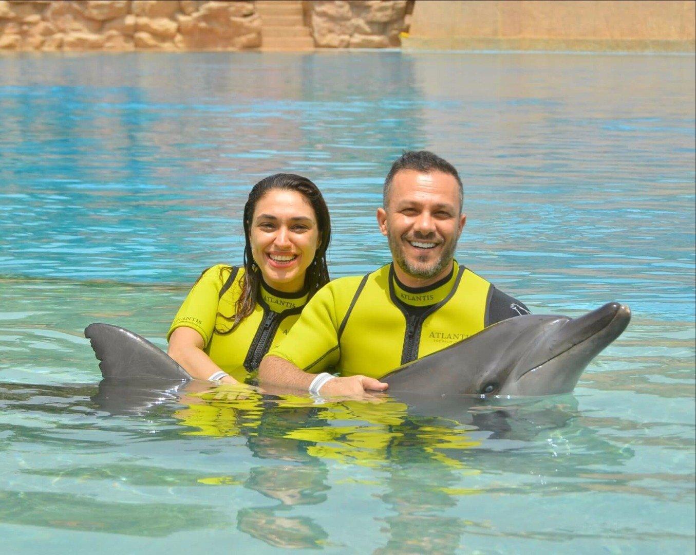 Zuhal Topal ve eşi Korhan Saygıner Dubai Tatilinde