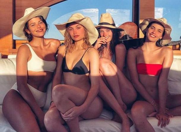 Sara Sampaio Model Arkadaşlarıyla Bahamalar'da