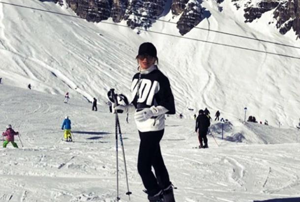 Avusturya'da Kayak Keyfi! Seren Serengil ve Yaşar İpek'ten Romantik Kaçış